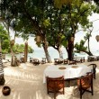 Stock Photo: Outdoor beach restaurant at tropical resort. Lembongan, Indonesi