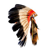 Native american indian chief headdress (indian chief mascot, ind — Stock Photo