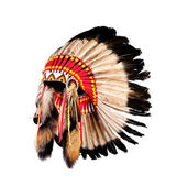 Native American Indian chief Kopfschmuck (indian chief Maskottchen, ind — Stockfoto