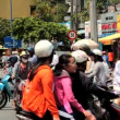 Stock Video: SAIGON - JULY 22: Road Traffic