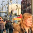 VLADIVOSTOK - October 19: downtown area, people walking on street — Stock Video