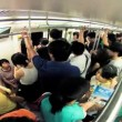 Beijing - JULY 28: Timelapse. People in the subway — Stock Video