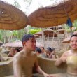 People at mud bathing spa — Stock Video