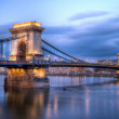 Chain Bridge, Budapest in the blue hour — Stock Photo