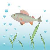 Underwater vector background. — Stock Vector
