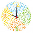Childish multicolor clock. — Image vectorielle
