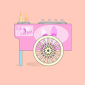 Charrette de crème glacée. — Vecteur