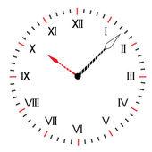 Okrągły zegar dwóch kolorów. — Wektor stockowy