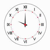 Relógio redondo de duas cores. — Vetorial Stock