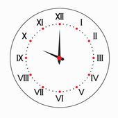 Two-color round clock. — Stock Vector