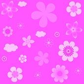 Abstraktní vektorové pozadí s květinami. — Stock vektor