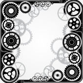 Mechanical cog wheel frame. — Stock Vector