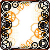 Mechanical cog wheel frame. — Stock Vector