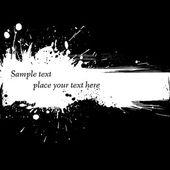 Ink grunge banner. — Stock Vector