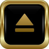 Black gold upper button. — Stock Vector