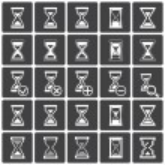 Sand glass Icons & Symbols. — Stockvector