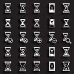 Sand glass Icons & Symbols. — Stock Vector