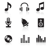 Music Icons & Simbols. — Stock Vector