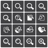 Loupe Icons & Simbols. — Stock Vector
