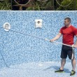 Cleaning the pool — Stock Photo
