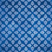 Damask seamless pattern, Damaged Blue — Stock Photo
