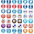 Social Mediset of 50 newest icons — Wektor stockowy #34049309