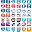 Social Mediset of 50 newest icons — Stok Vektör #34049309