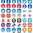50 Icon set of Social Media share buttons — Stock Vector #34054477