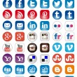 Social Media set of 50 newest icons — Stock Vector #34088257