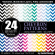 24 Chevron pattern, vector printable printable digital paper — Stock Vector