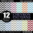 Set of 12 Chevron vector patterns, vintage color printable digital paper — Stock Vector #35076249