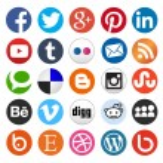 Simple social media icon — Stock Vector #38660027