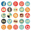 Simple social media icon retro style — Stock Vector #39134713