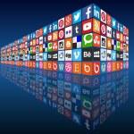 социальные медиа — Cтоковый вектор #39566059