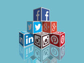 Social media — Stock Vector