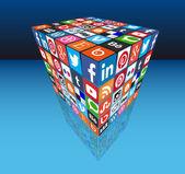 Social media — Cтоковый вектор