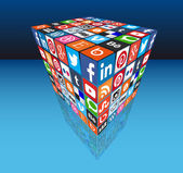 Midia sociais — Vetor de Stock