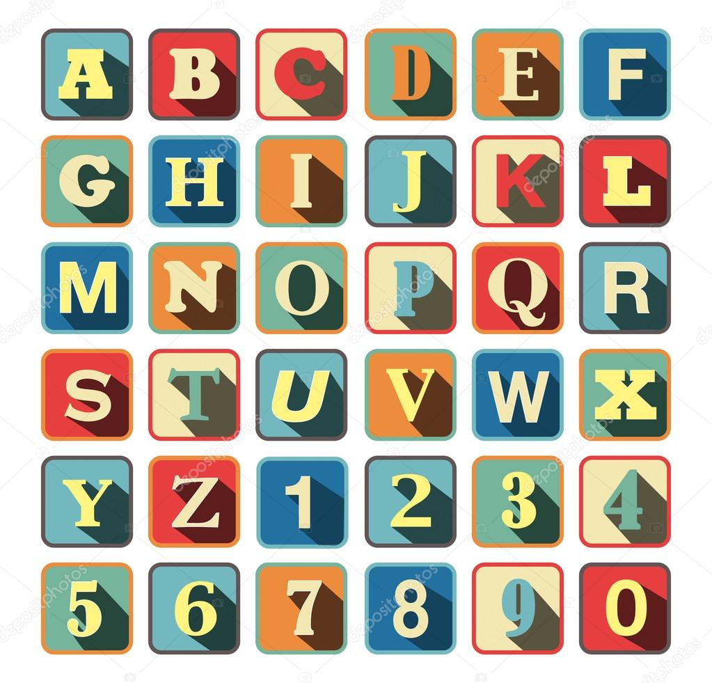 Cube Letters Alphabet