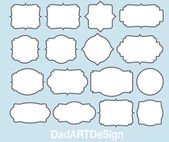 16 Blank labels — Stock Vector