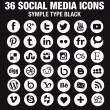 36 New Social media icons - Circle white - new version — Stock Vector #45746049