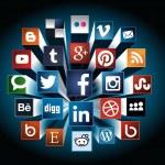 Social Media concept 3d composition — Stock Vector