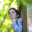 Stock Photo: Boy observing nature