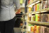 Women, Shopping, Supermarket, Shopping Cart, Retail, Grocery Pro — Stock Photo