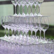 Reception - Presentation - Glasses - Service — Stock Photo