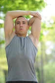Stretching-Man-Sports and Fitness — Stock Photo