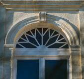 Door with glass tympanum — Stock Photo