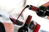 Tasting wine in a vinery — Stock Photo