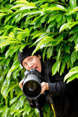 Photographer-Paparazzi — Stock Photo