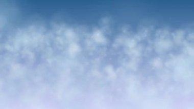 Vliegen door wolken lus — Stockvideo
