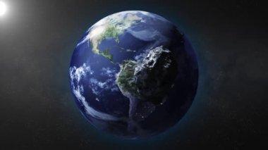Aarde zoom — Stockvideo
